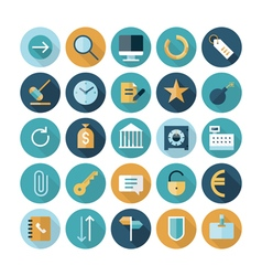 Icons flat line business concept vector