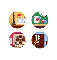 Board games set of icons vector