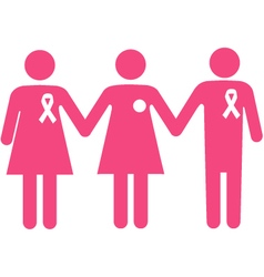 Breast cancer support group vector