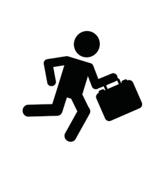 businessman running isolated icon design vector image vector image