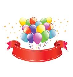 Celebration banner vector image vector image