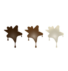 Chocolate desserts in the form of blots vector
