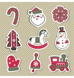 Christmas tags or stickers for gifts vector