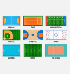 creative of sport game fields vector image