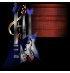 electric guitars in different planes vector image vector image