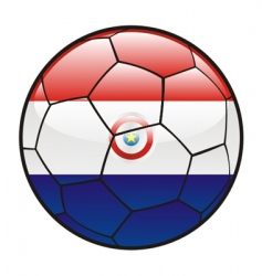 Flag of paraguay on soccer ball vector