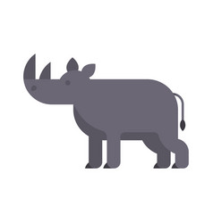 flat style of rhino vector image vector image
