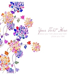 flower card drawn by hand vector image vector image