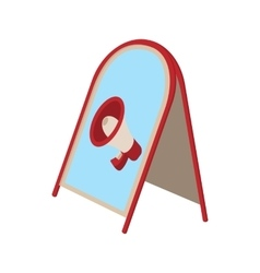Folding advertising stand icon vector
