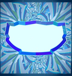 Frame with frosty pattern vector