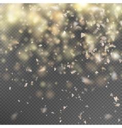 Gold glitter on transparent background EPS 10 vector image