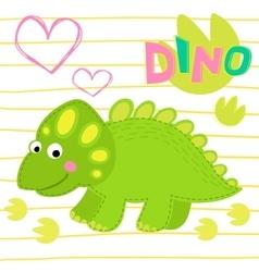 Green dinosaur vector