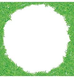 green grass frame vector image