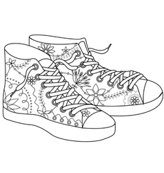 Gumshoes coloring vector