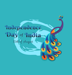 India happy independence day colorful poster vector