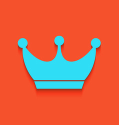King crown sign whitish icon on brick vector