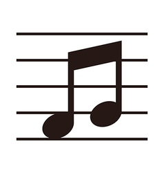 Music note on stave vector image