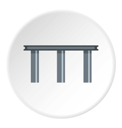 Narrow bridge icon flat style vector