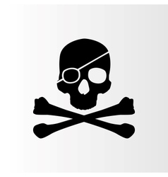 Pirate sign skull and bones jolly roger vector