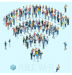 public wifi people crowd sign vector image