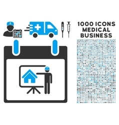 Realty developer calendar day icon with 1000 vector