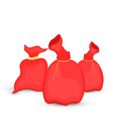 set of bags santa claus of christmas vector image