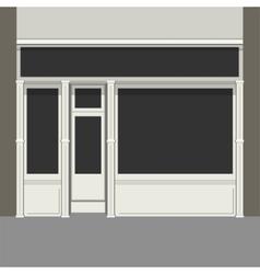 Shopfront with black windows light store facade vector