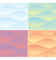 soft wave background vector image vector image