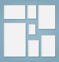 Template book set vector