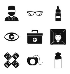 Therapist icons set simple style vector