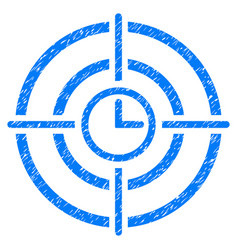 Time target grunge icon vector