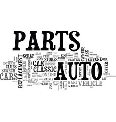 When your car s parts are hard to find text word vector