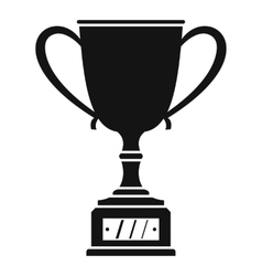 Winner cup icon simple style vector image vector image