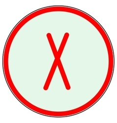Cross red sign in red circle vector