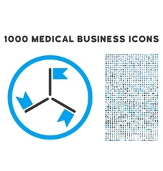 Flags icon with 1000 medical business symbols vector