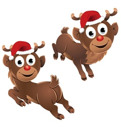 Baby rudolph the reindeer jumping vector
