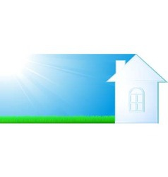 House silhouette on sky background vector