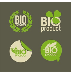 Bio product vector image
