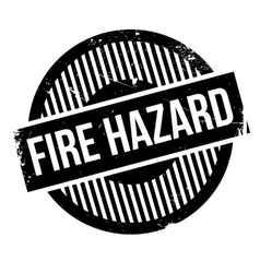 Fire hazard rubber stamp vector