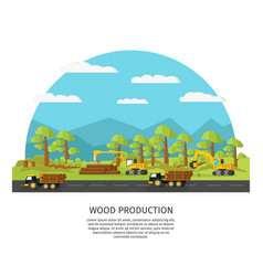 Industrial wood manufacturing template vector