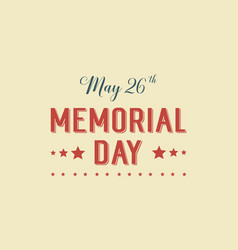 Memorial day theme background style vector