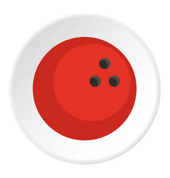 Red marbled bowling ball icon circle vector