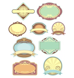Vintage labels collection 2 vector