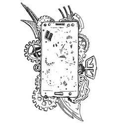 Phone abstract vector