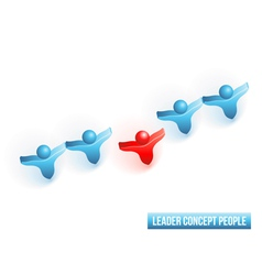 Leader concept people vector image