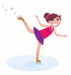ice skater vector image