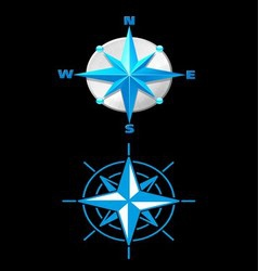Nautically themed compass vector