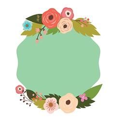 Elegant frame with flowers vector
