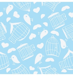 Birds and bird cages vector