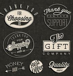 Vintage design elements and emblems vector